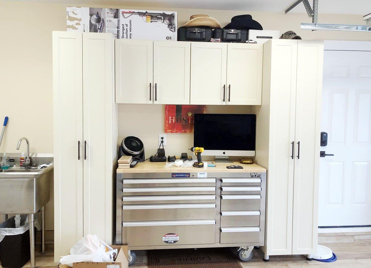 custom garage storage systems, cabinets & organization